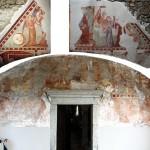 Freske na zahodni fasadi (foto: Restavratorstvo Šentjošt)