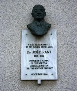 Doprsni kip dr. Jožeru Rantu