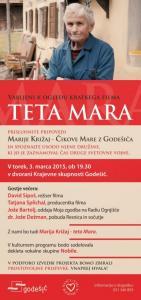 Teta Mara, 03.03.2015, Vabilo